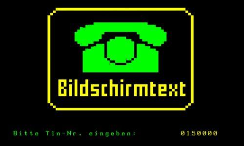 Startseite Bildschirmtext