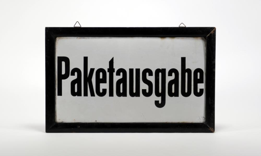 Schild der Deutschen Reichspost, 1920er Jahre
