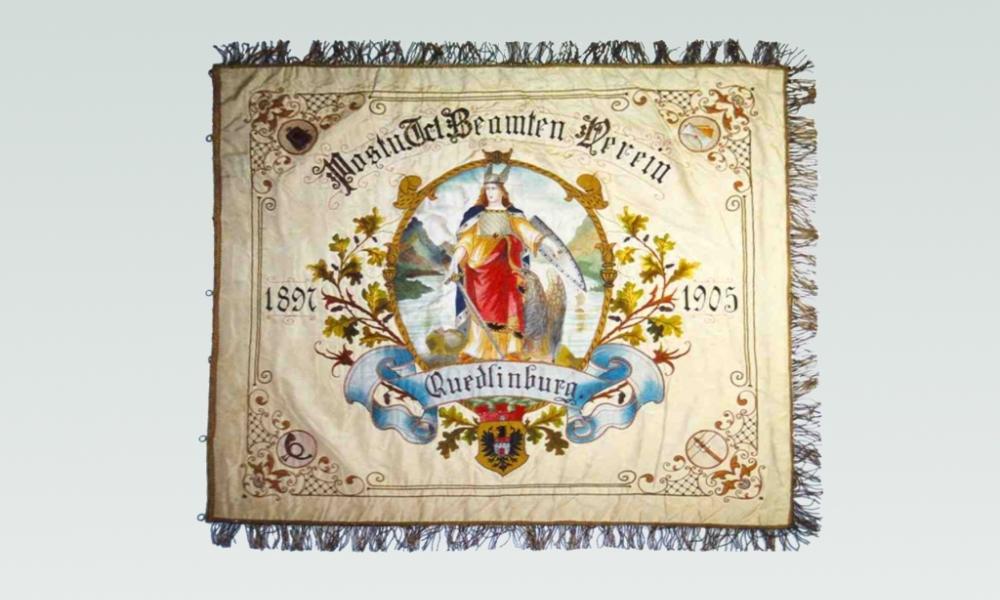Fahne des Post und Telegraphen Beamten Vereins Quedlinburg, 1897 bis 1905