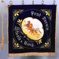 Fahne des Postvereins Steele, 1891 bis 1931