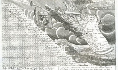 Meilenzeiger für das Kurfürstentum Bayern, um 1710