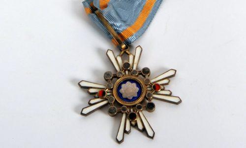 Japanischer Orden, verliehen an den Geheimen Postrat Herrmann. Galle, ca. 1875 bis 1907