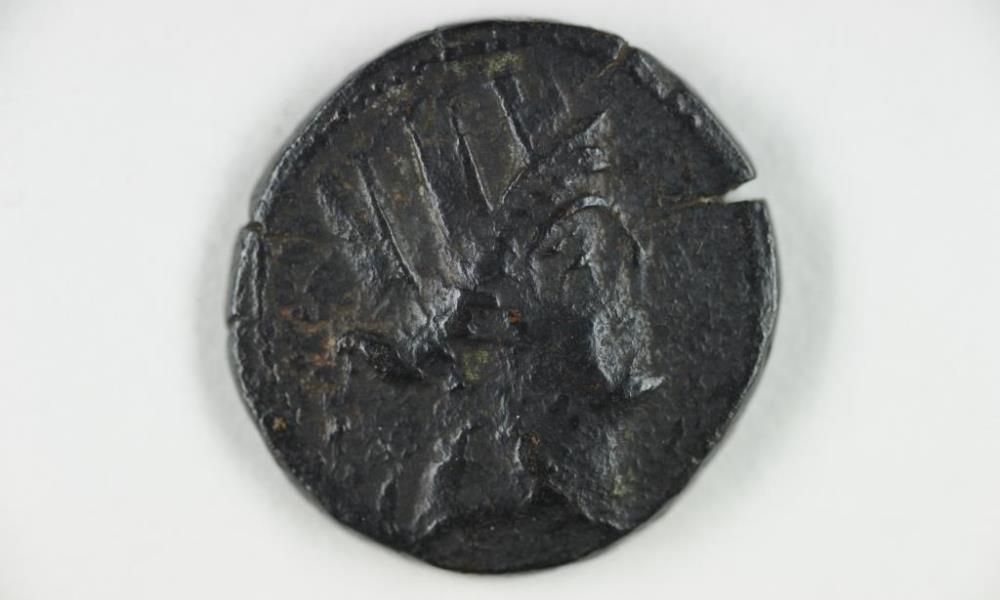 Roemische Muenze, 1. Jahrhundert v.Chr.