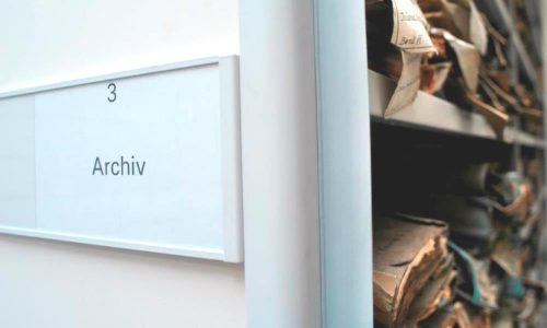 Archiv im Depot Heusenstamm im Jahre 2005