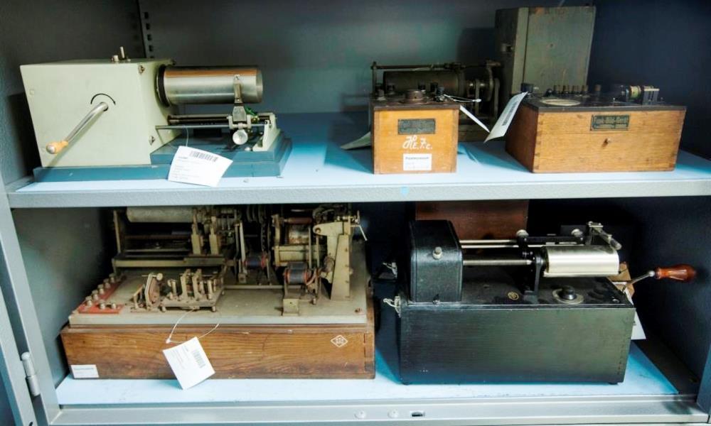 Bildtelegrafie-Apparate im Depot Heusenstamm
