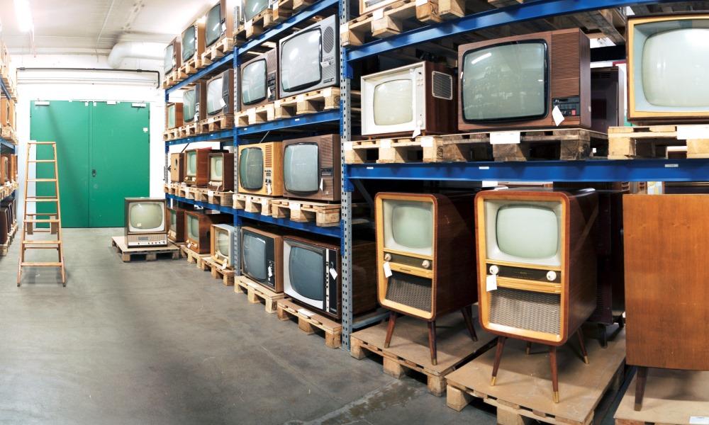 Fernsehgeraete im Depot in Heusenstamm