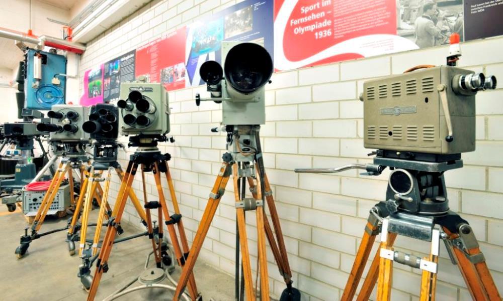 Fernsehkameras im Depot Heusenstamm