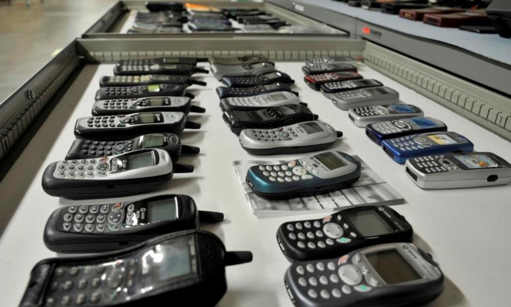 Mobiltelefone im Depot Heusenstamm