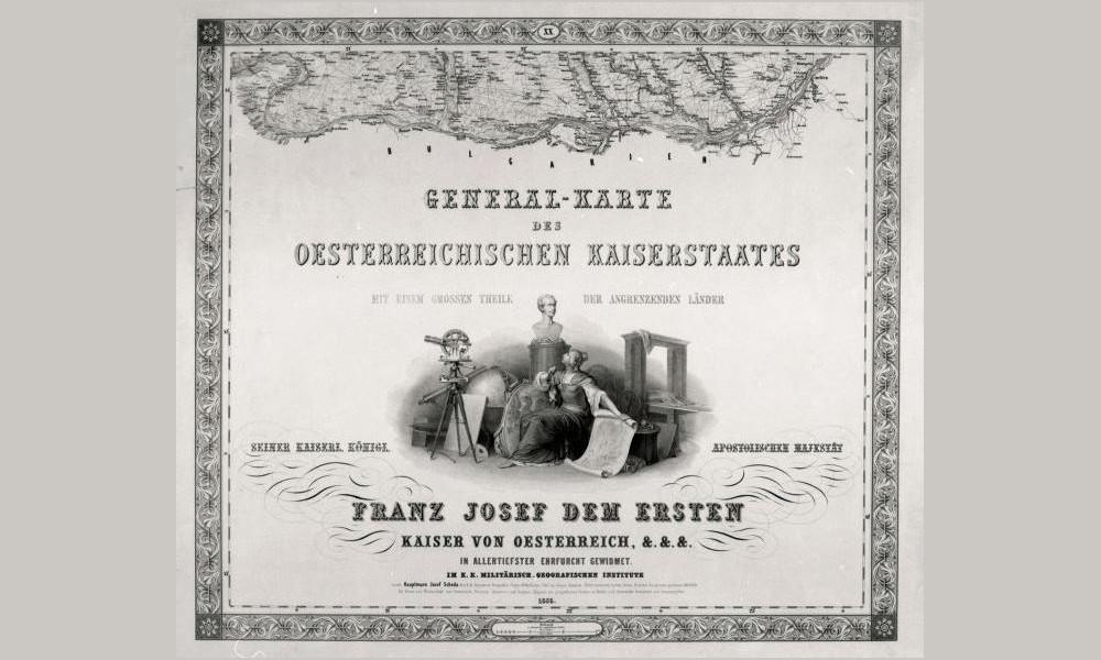 """""""General-Karte des Oesterreichischen Kaiserstaates"""" (Titelblatt), 1856"""