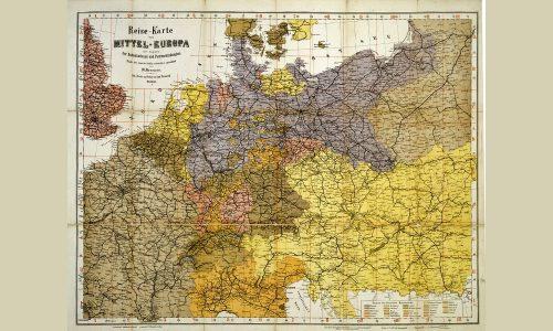 Reise-Karte von Mitteleuropa, 1875