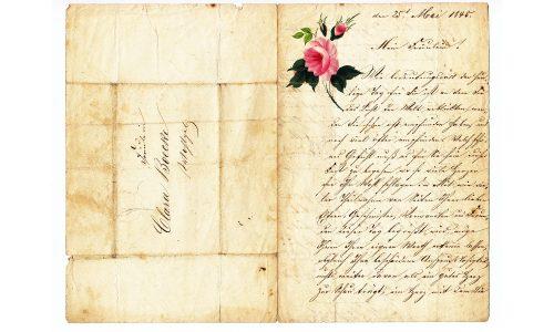 Brief an die liebste Frau Clara, geschrieben von W.Loepert, Sammlung von 20 Briefen, 1838 - 1902