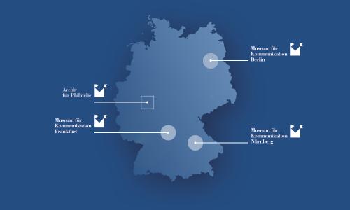Standorte Museumsstiftung Post und Telekommunikation Karte Grafik